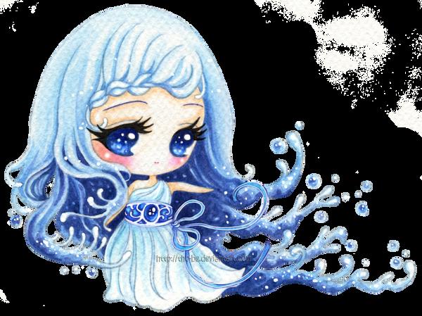 Anime Water Element Girl - Hot Girls Wallpaper