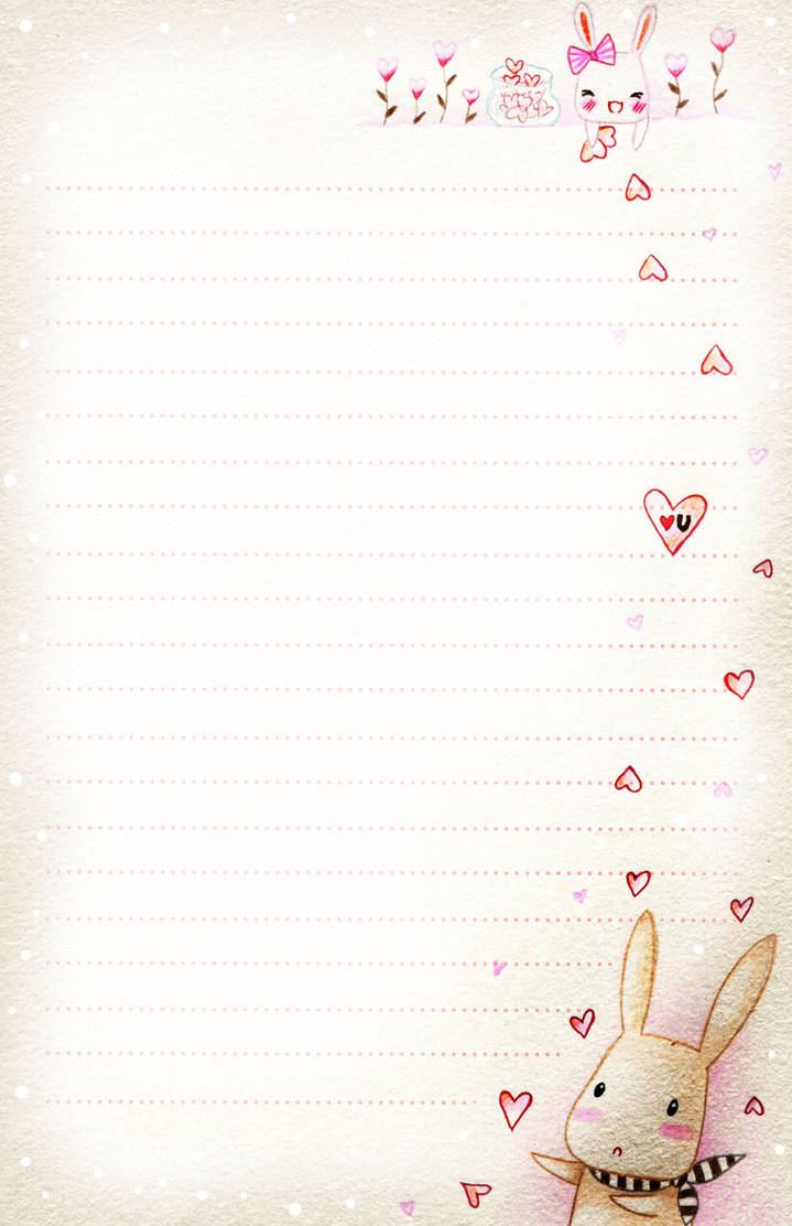Bunny love - letter paper by tho-be