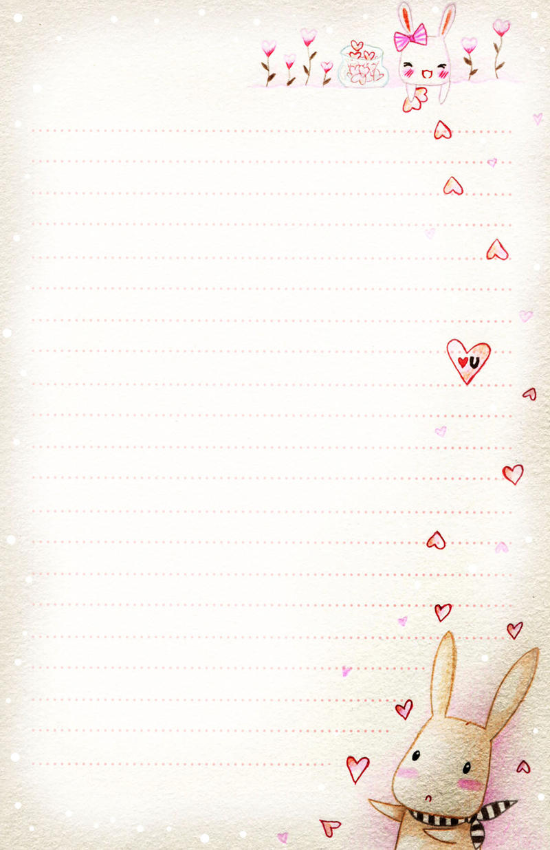 Love Letter Wallpaper Design : Bunny love - letter paper by tho-be on DeviantArt