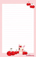 Milly and cherries stationery by tho-be