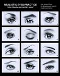 Realistic eyes practice