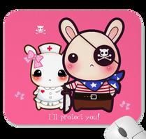 I'll protect you - kawaii mousepad by tho-be