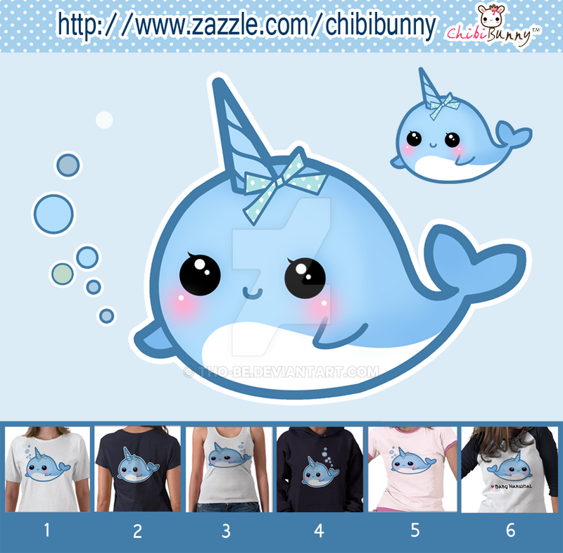 Cute narwhal shirts by tho-be