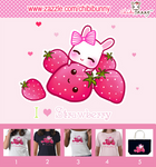 Cute bunny and kawaii strawberries T-shirts