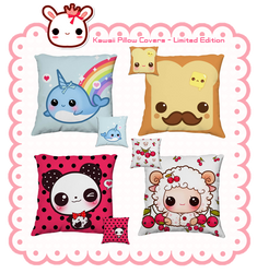 Kawaii pillow covers (cheaper price) by tho-be