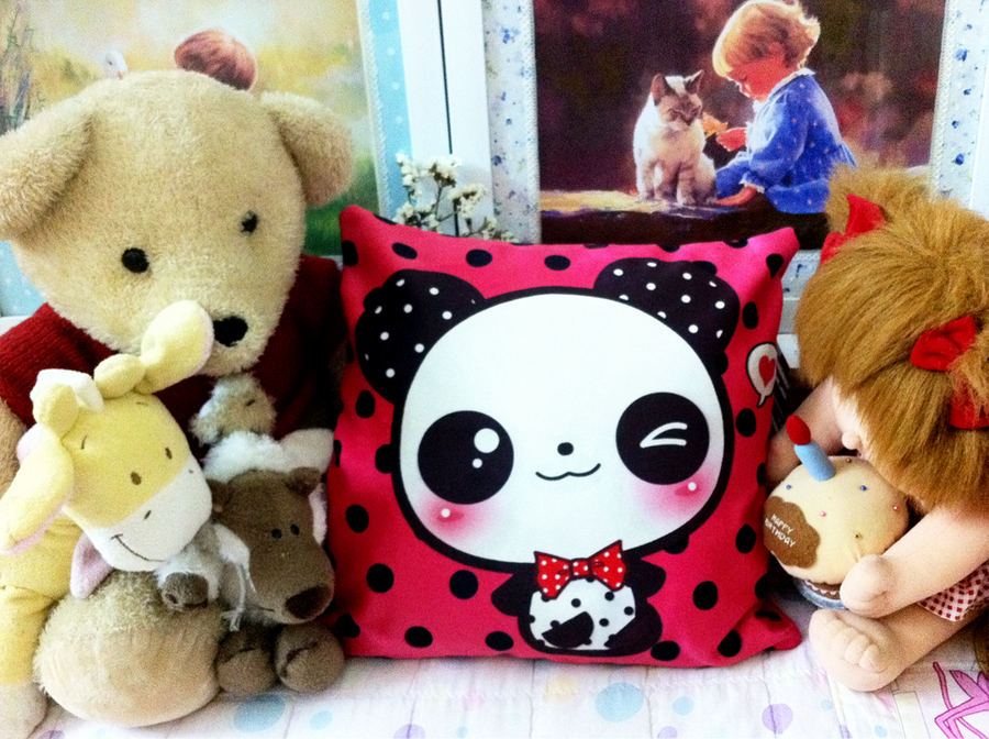 Kawaii Panda pillow by tho-be