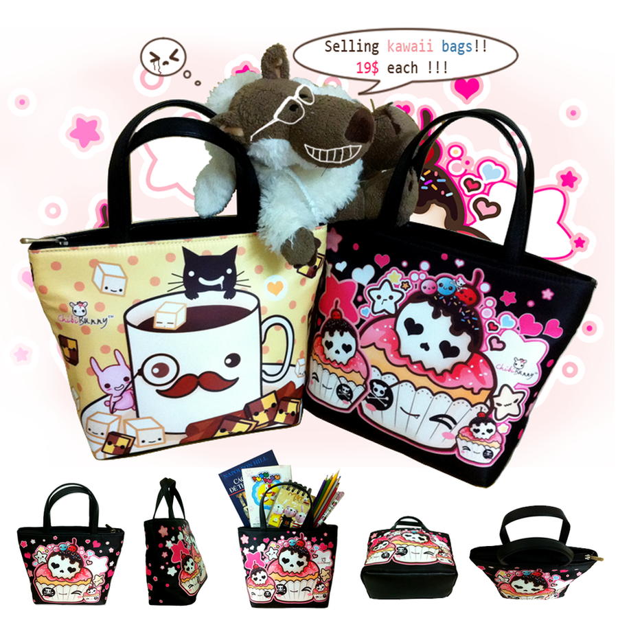 Kawaii bucket bags by tho-be