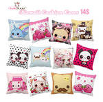 Kawaii cushion cases collections