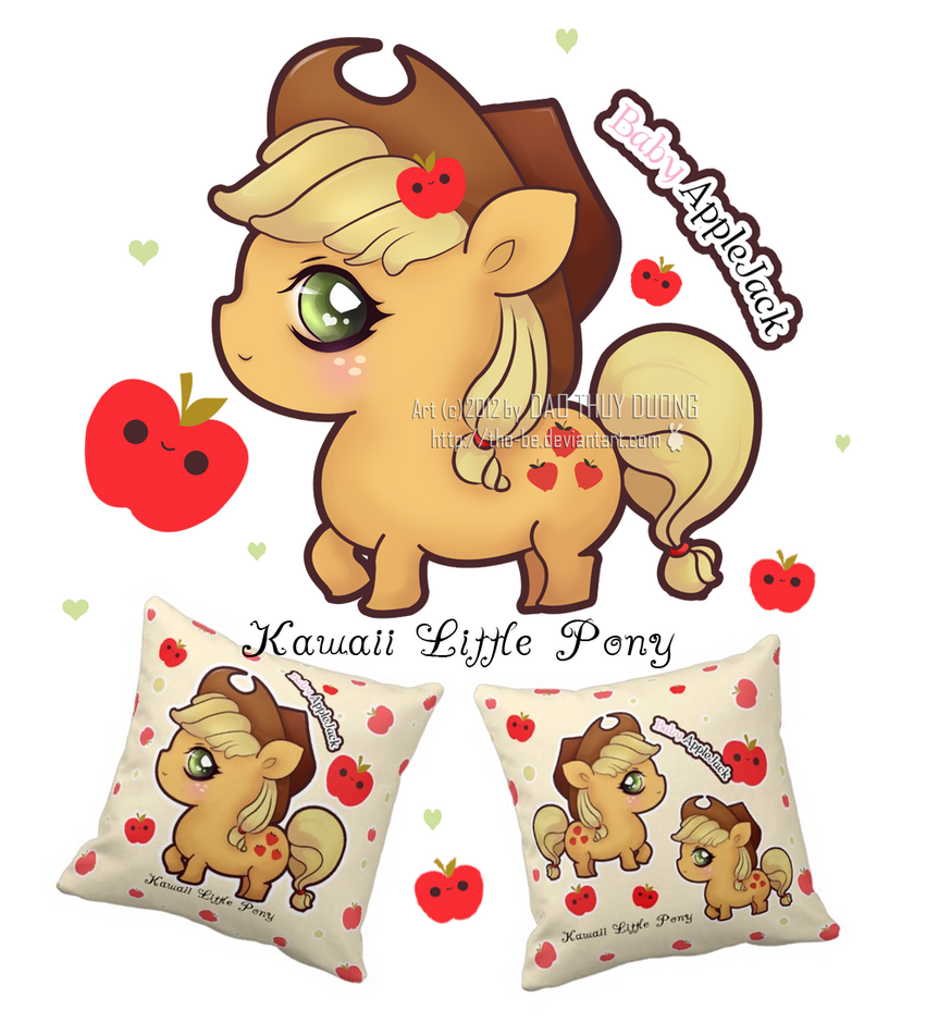 Kawaii Baby Applejack By Tho Be On Deviantart