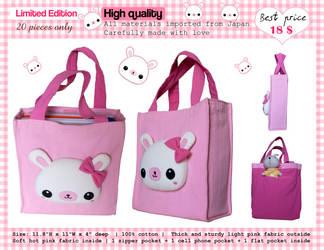 Cute bunny plush bag by tho-be