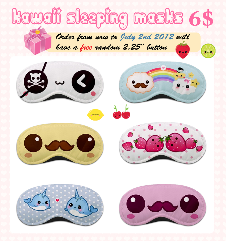 Kawaii sleeping masks by tho-be