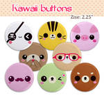 Kawaii 2.25 inch buttons sets giveaway