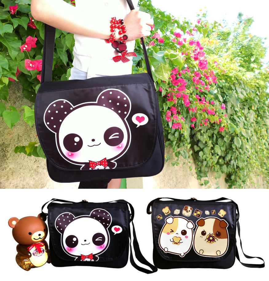 Kawaii messenger bags by tho-be