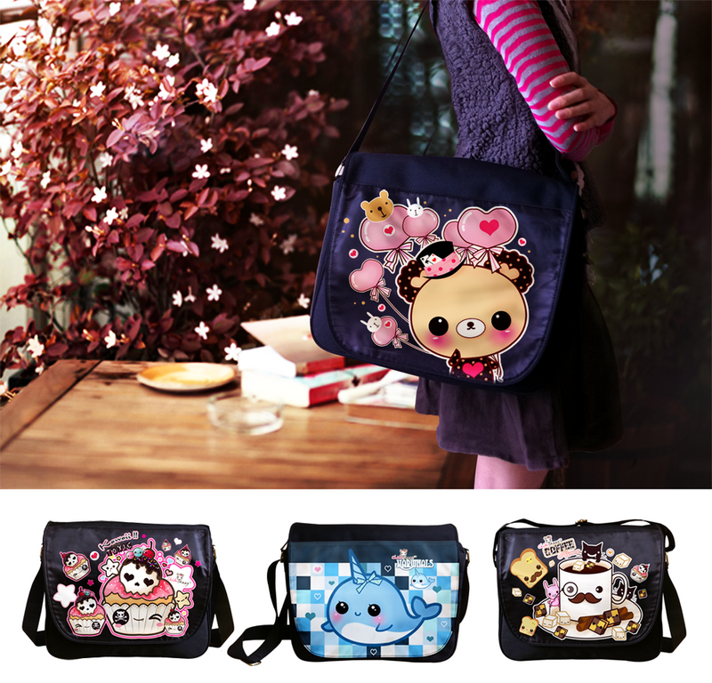 Kawaii messenger bags 2 by tho-be