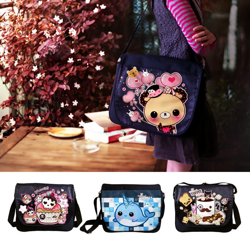 Kawaii messenger bags 2 by tho-be