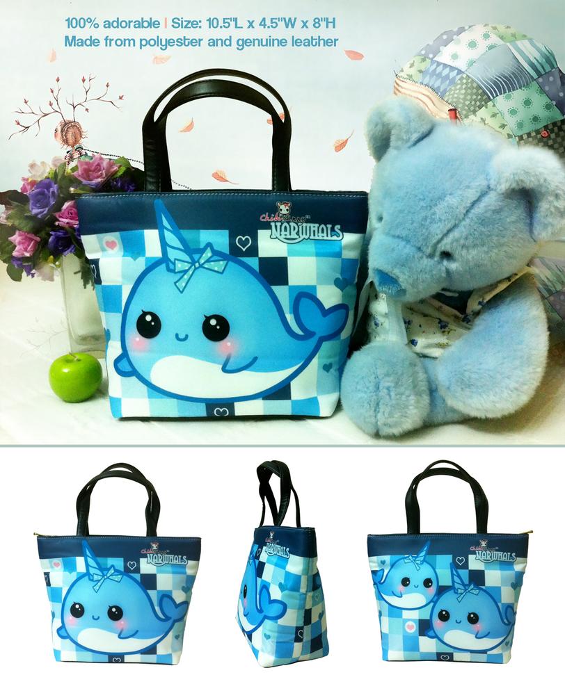 Kawaii narwhal bucket bag by tho-be