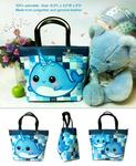 Kawaii narwhal bucket bag