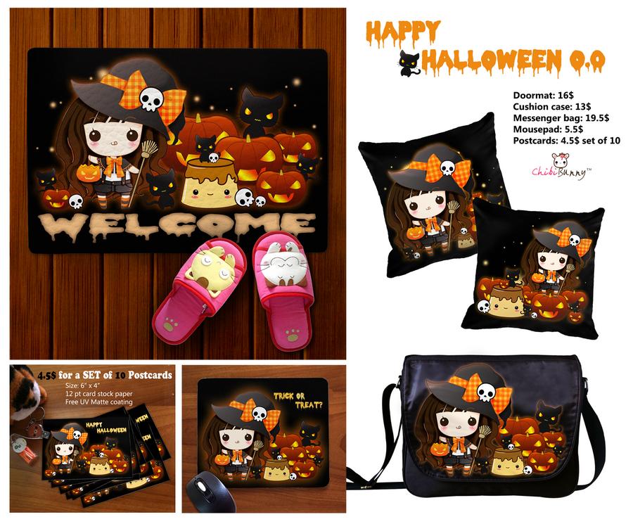 Kawaii Halloween items by tho-be