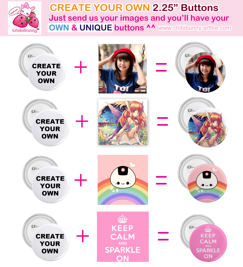 CREATE YOUR OWN buttons by tho-be