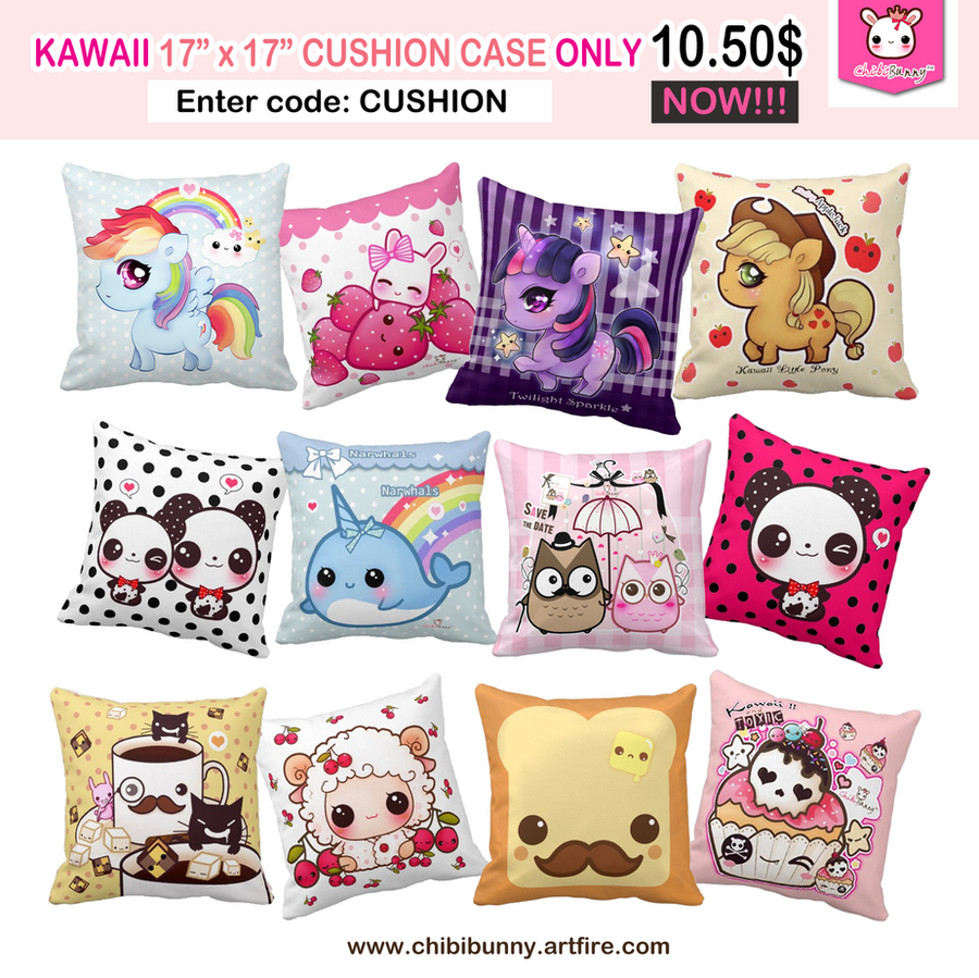 Kawaii cushion cases by tho-be