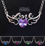 Angel's love - crystal necklaces