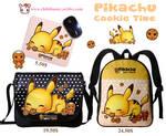 Pikachu mouse pad, messenger bag and backpack