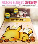 Cute Pikachu blanket giveaway