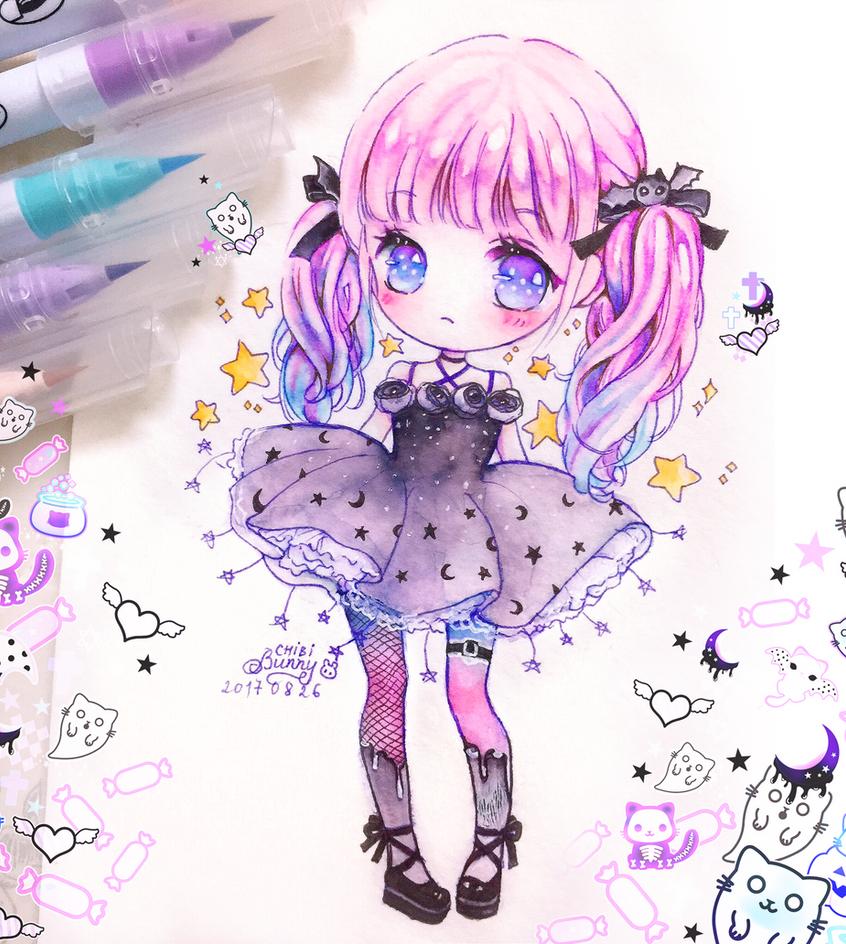 Sweet Halloween Chibi Girl By Tho Be On Deviantart
