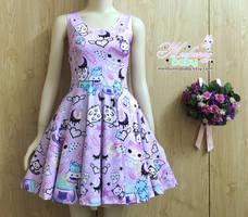 Magic cats - cute Halloween skater dress