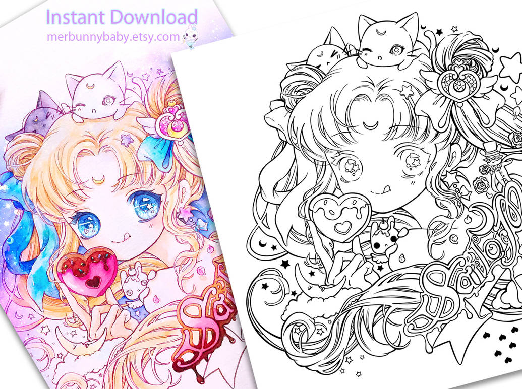 Sailor moon coloring page by tho be on deviantart