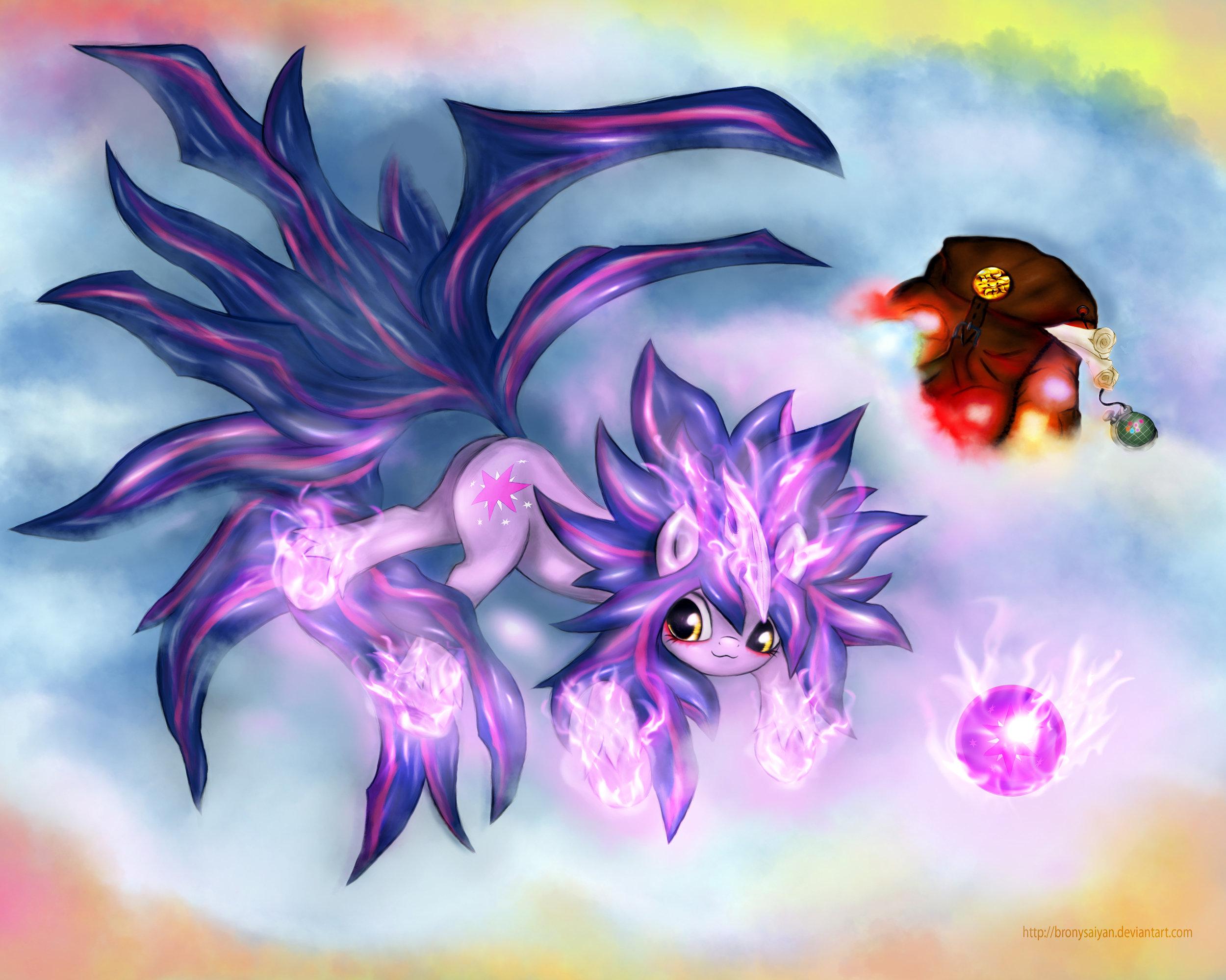 Twilight Super Saiyan 4 by BronySaiyan
