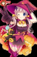 Halloween anime render by U-kari