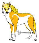 Darth Goldstar710--Wolf Form by DarthGoldstar710