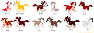 Balto FA: Kids x Mates as pups by DarthGoldstar710