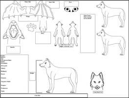 Wolf Ref. LineArt by DarthGoldstar710