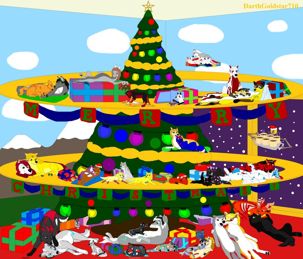 Goldstar and Demetria: Christmas by DarthGoldstar710
