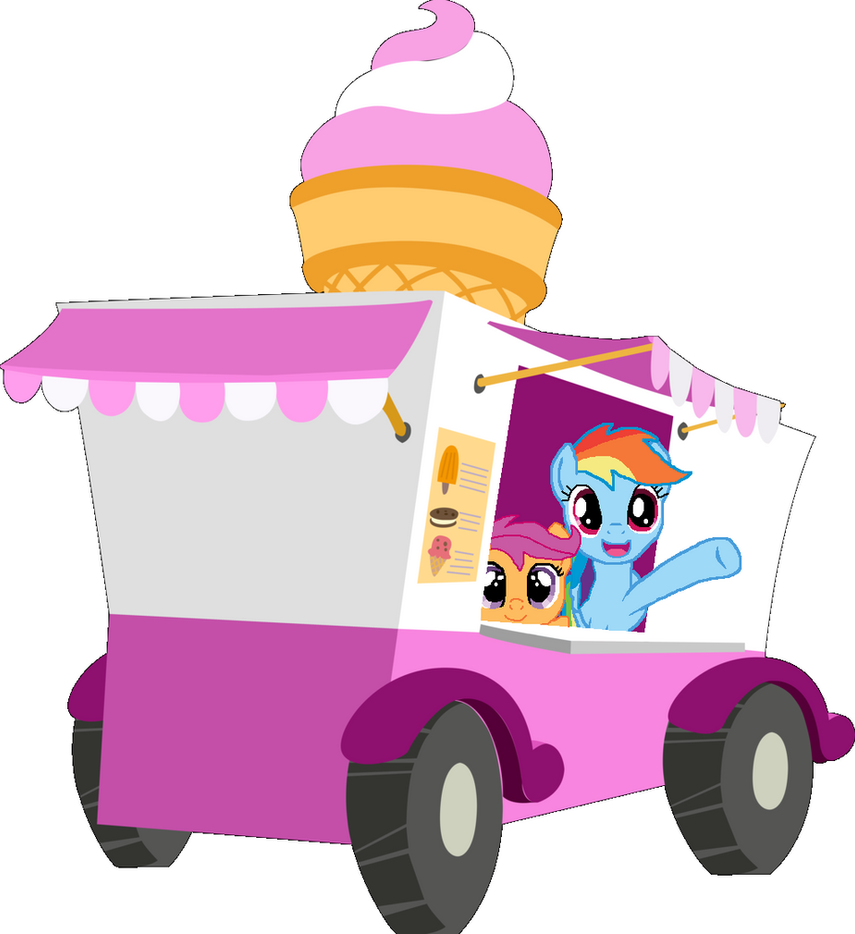 Scootaloo And Rainbow Dash Kiss Rainbow Dash And Scootaloo Ice