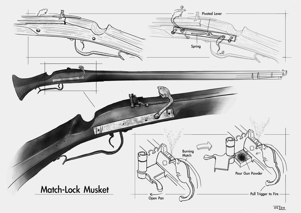 Study of a Matchlock Musket. by Macaronix on DeviantArt