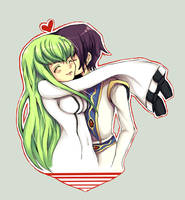 Art Trade: Lelouch And CC by BiancaEmoRapinRocker