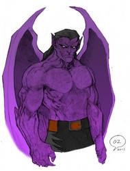Gargoyles Goliath sketch by kareja