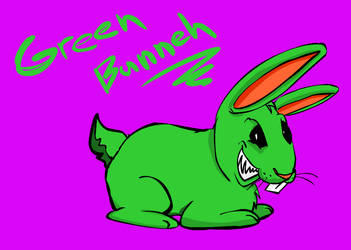 Green bunneh by buster126