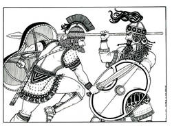 Achilles and Hector at Troy by plt25