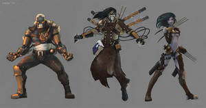 Steam-punk 'influenced' fantasy characters