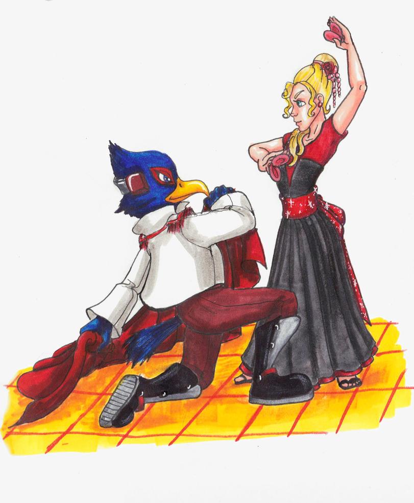 Fox Mccloud And Falco LombardiFalco Ssbb Drawings