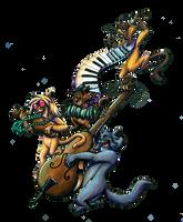 Scat Cat's Band by KaeMcSpadden