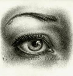 eye cross hatching by Isisnofret