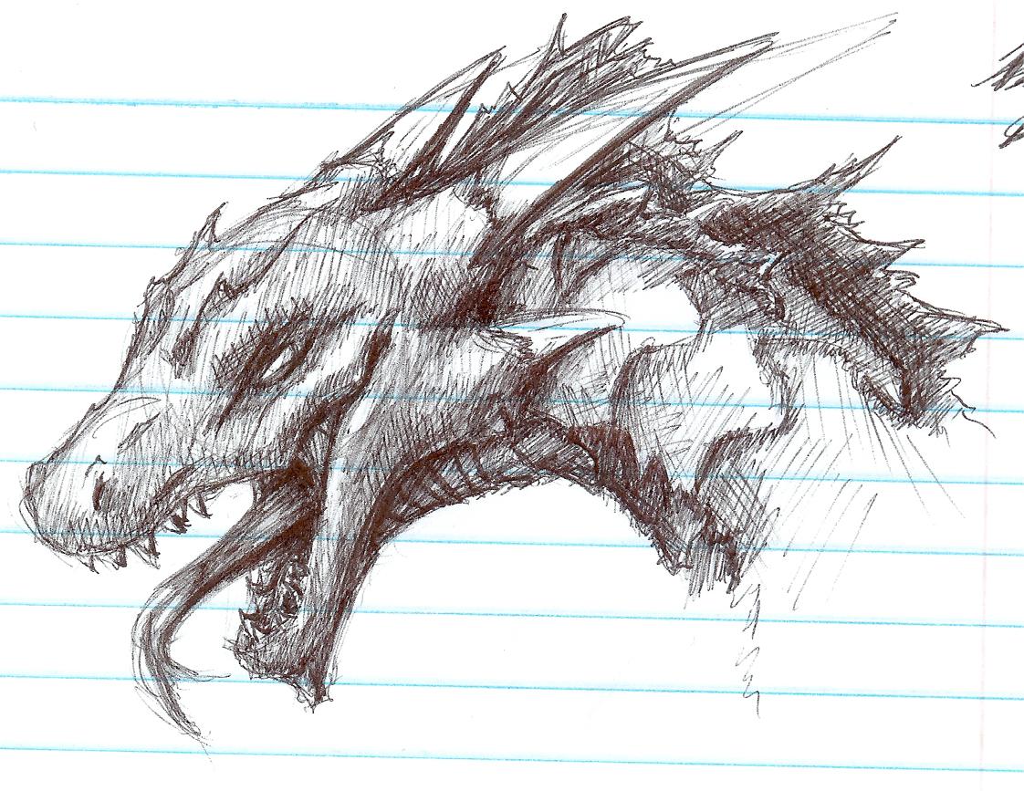 Dragon-Head(Sketch) by B-LIZARD-C on DeviantArt