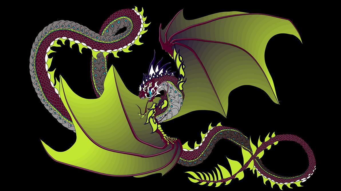 Dragon Mural Color by B-LIZARD-C on DeviantArt