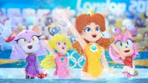 Daisy,Peach,Amy and Blaze at the olympic games by livrocks3