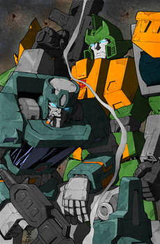 Wreckers Pin-Up Colored